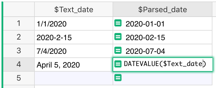 Parse date from string datevalue